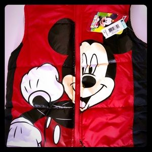 NWT Disney Mickey Mouse Puffer Vest